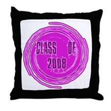 Pink Class Of 2008 Throw Pillow