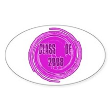 Pink Class Of 2008 Oval Decal