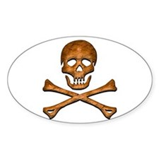 Jolly Roger 5 Oval Decal