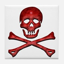 Jolly Roger 4 Tile Coaster
