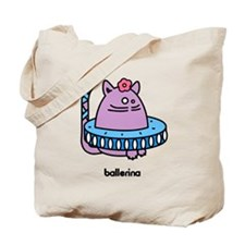 Ballerina Kat - Girlish Ballet Cat Tote Bag