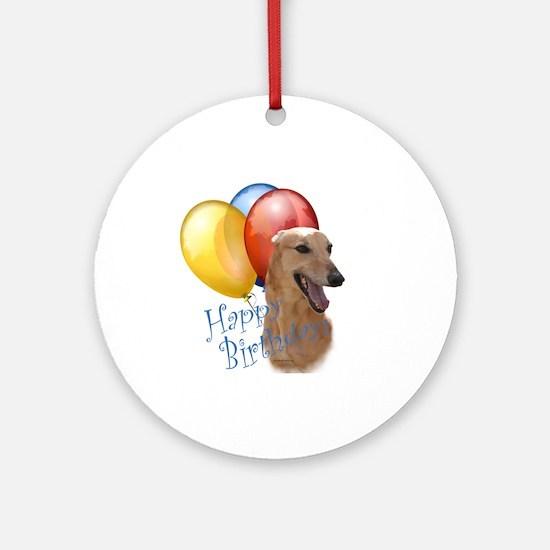 Greyhound Balloon Ornament (Round)