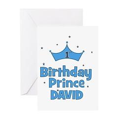 1st Birthday Prince David! Greeting Card
