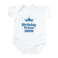 1st Birthday Prince David! Infant Bodysuit