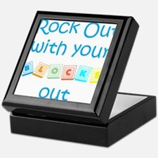 Rock Out With Your Blocks Out Keepsake Box