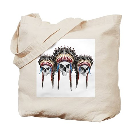 Indian Skulls Tote Bag