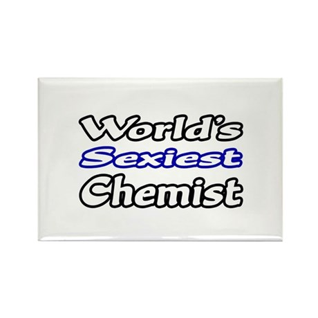 """World's Sexiest Chemist"" Rectangle Magnet"
