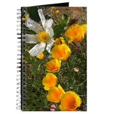 Poppies and White Flower Journal
