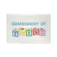 Granddaddy of Twins Blocks Rectangle Magnet
