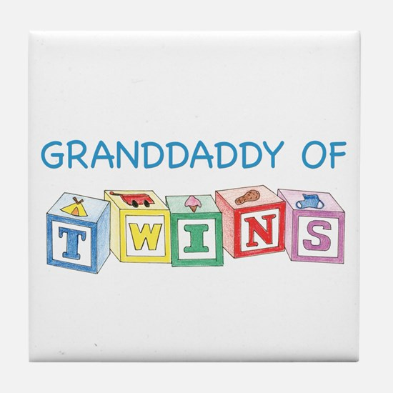 Granddaddy of Twins Blocks Tile Coaster