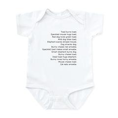 Funny Random Sentences silly on Infant Creeper