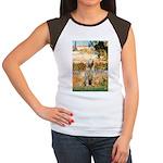 Garden Fiorito/ Spinone Women's Cap Sleeve T-Shirt