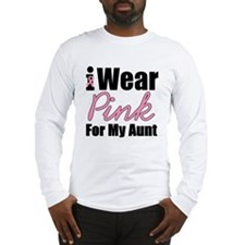 I Wear Pink Aunt Long Sleeve T-Shirt