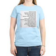 Funny Random Sentences silly on Women's Pink T-Shi