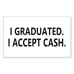 Graduation Cash Rectangle Sticker 50 pk)