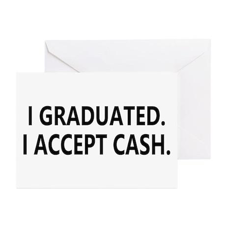 Graduation Cash Greeting Cards (Pk of 10)