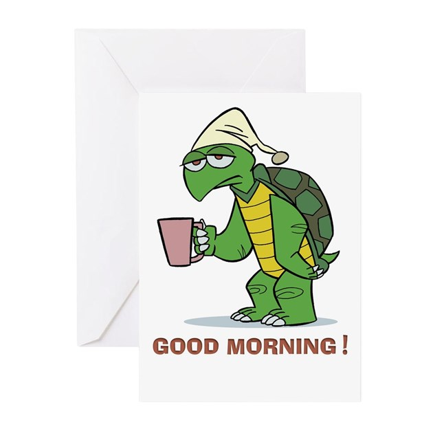 Good Morning All Caps : Good morning greeting cards pk of by squid shop