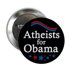 Atheists for Obama campaign button