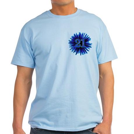 21st Blue Spray Light T-Shirt