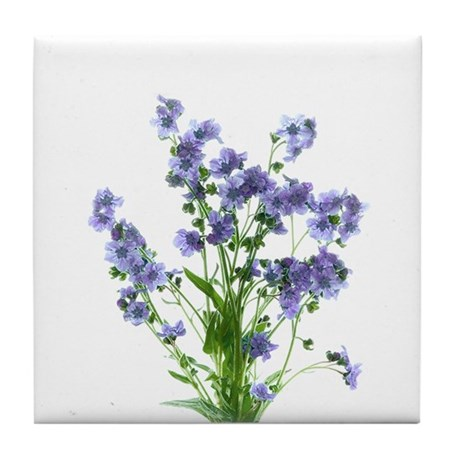 Forget-Me-Nots Tile Coaster