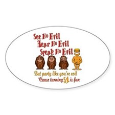 Party 51st Oval Decal