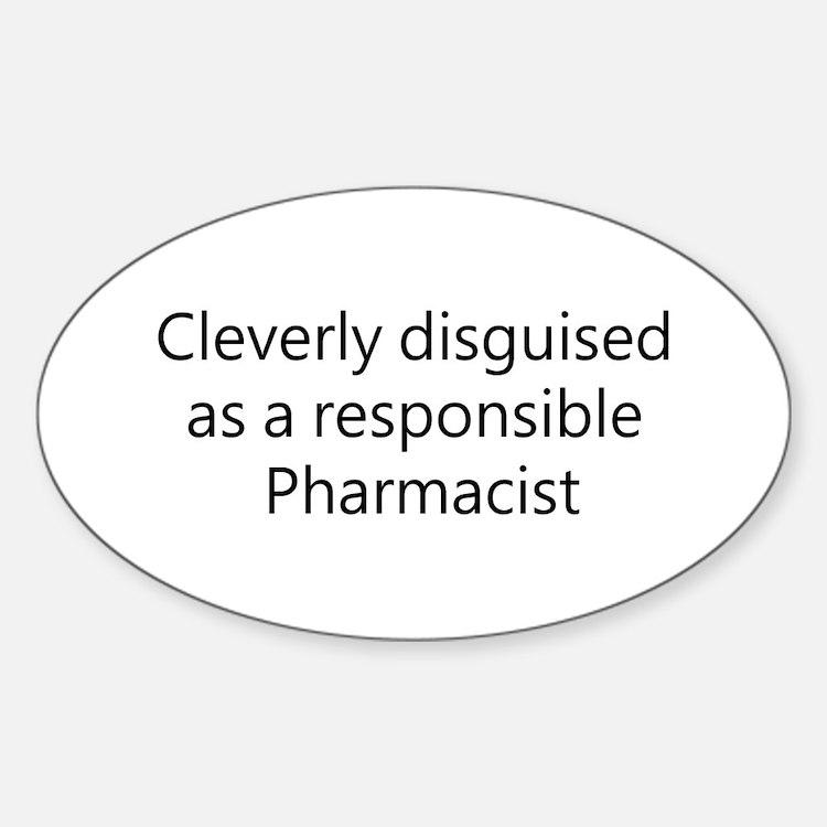 Pharmacist Oval Sticker (10 pk)