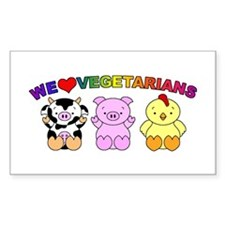 We Love Vegetarians Decal