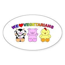 We Love Vegetarians Decal
