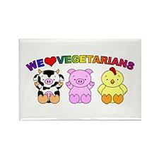 We Love Vegetarians Rectangle Magnet