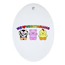 We Love Vegetarians Ornament (Oval)