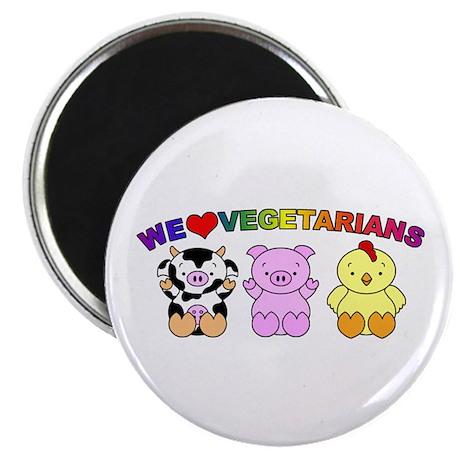 "We Love Vegetarians 2.25"" Magnet (10 pack)"