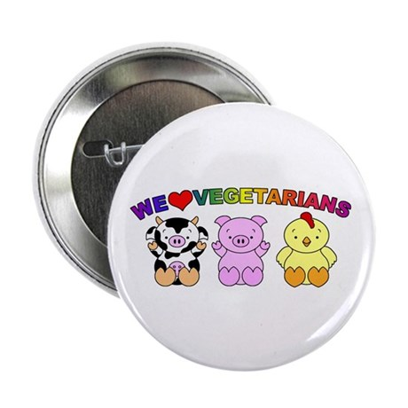 "We Love Vegetarians 2.25"" Button (100 pack)"