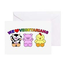 We Love Vegetarians Greeting Card