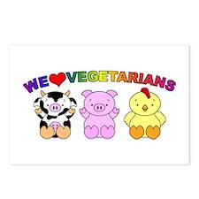 We Love Vegetarians Postcards (Package of 8)