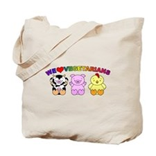 We Love Vegetarians Tote Bag