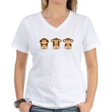 Monkey Hear, See, Speak No Evil Shirt
