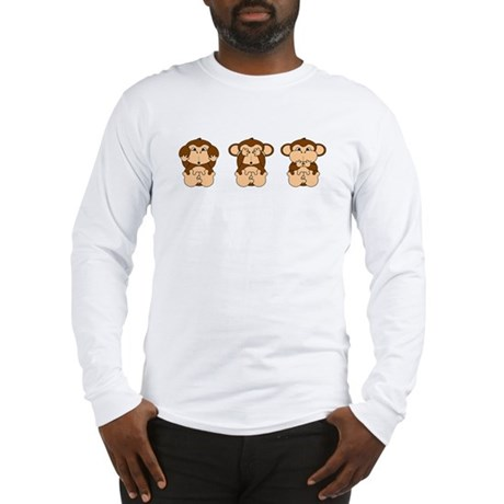 Monkey Hear, See, Speak No Evil Long Sleeve T-Shir