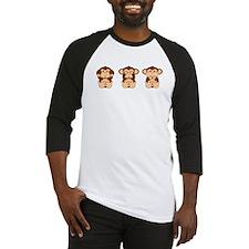 Monkey Hear, See, Speak No Evil Baseball Jersey