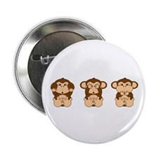 "Hear, See, Speak No Evil 2.25"" Button (100 pack)"