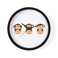 Hear, See, Speak No Evil Wall Clock
