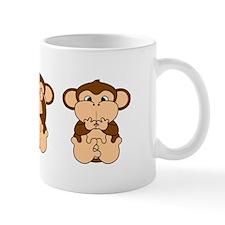 Hear, See, Speak No Evil Small Mugs