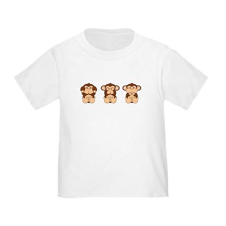 Hear, See, Speak No Evil Toddler T-Shirt