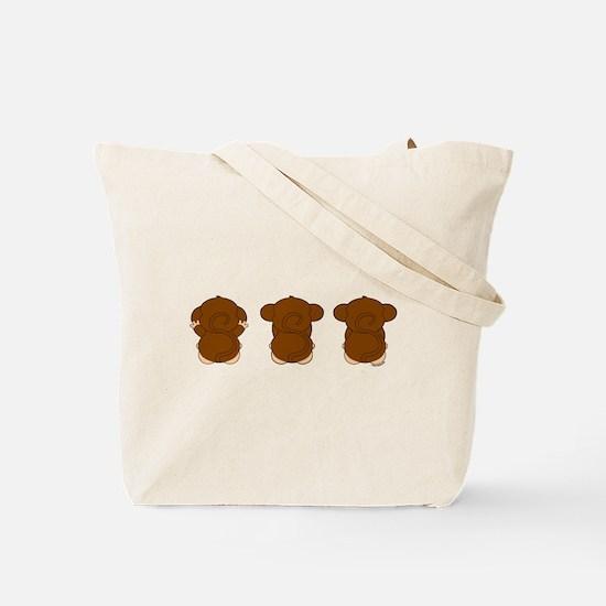 Hear, See, Speak No Evil Tote Bag