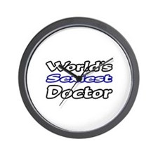 """""""World's Sexiest Doctor"""" Wall Clock"""