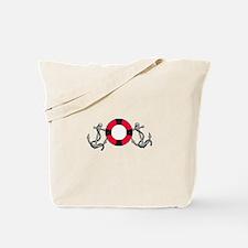 Life ring and Anchor Tote Bag