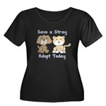 Save a Stray - Adopt Today Women's Plus Size Scoop