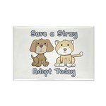 Save a Stray - Adopt Today Rectangle Magnet (100 p