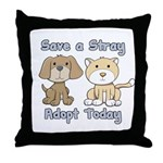 Save a Stray - Adopt Today Throw Pillow