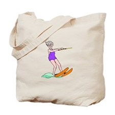 Water Skiing Tote Bag