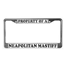Property Of Neapolitan Mastiff License Plate Frame